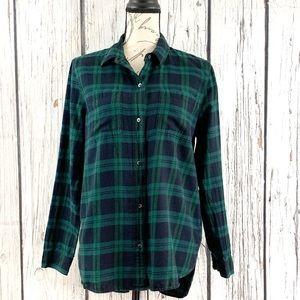 Madewell Plaid Shirt/Top